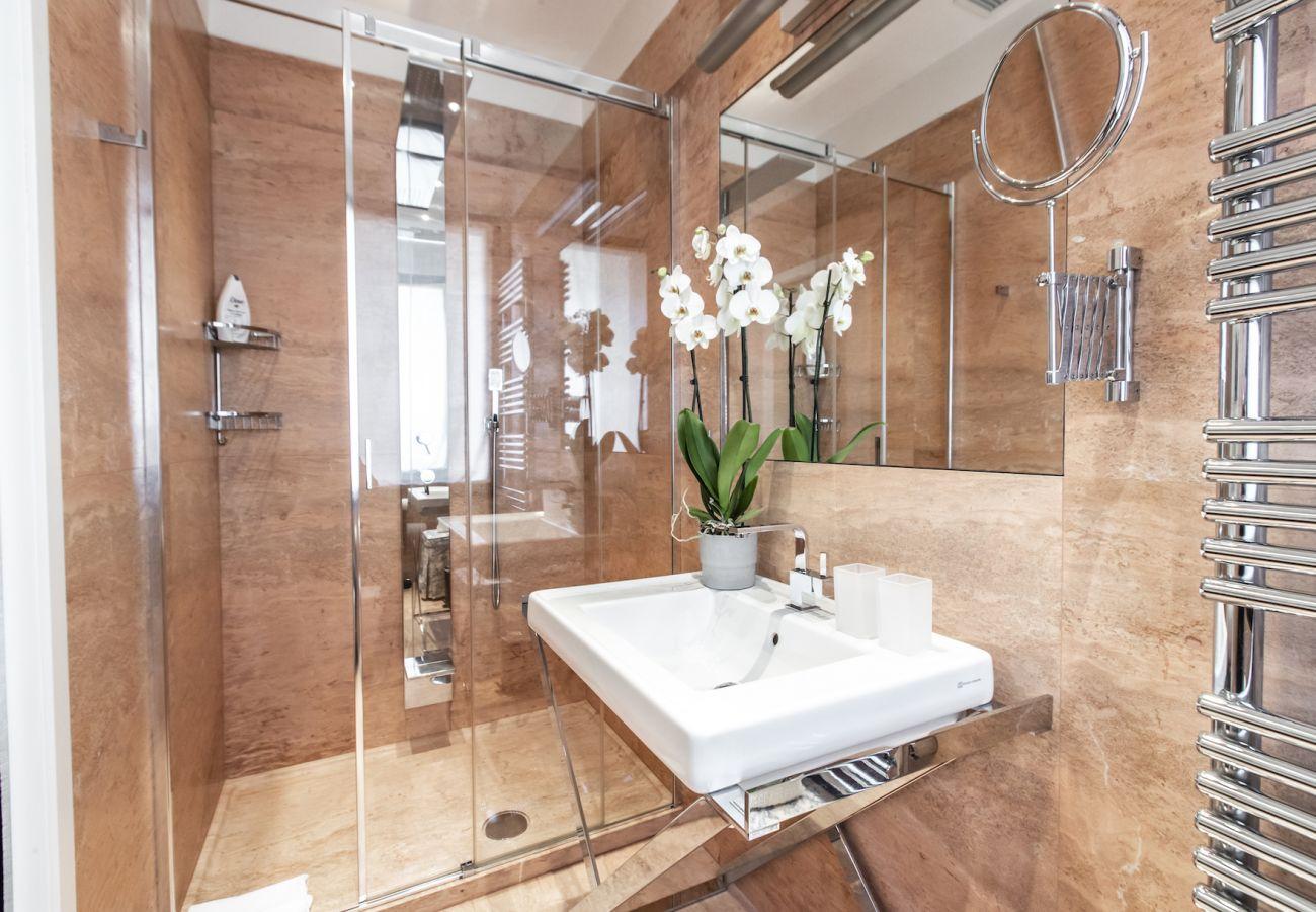 Modern stone bathroom